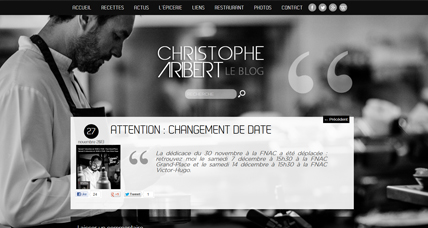 Blog Christophe Aribert